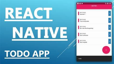 react native asyncstorage tutorial react native tutorial create a todo tasks app in 25