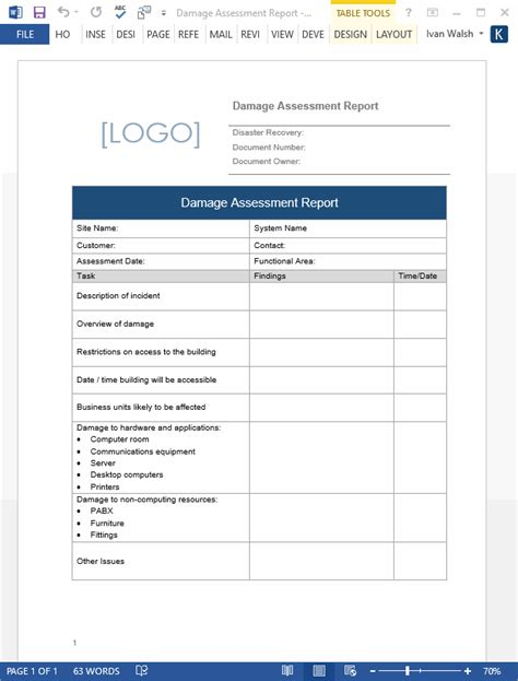 it disaster recovery test report template and disaster recovery