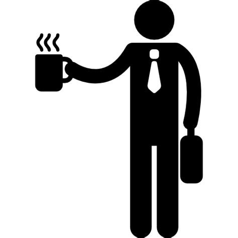 coffee cup silhouette png office worker silhouette with coffee cup free people icons