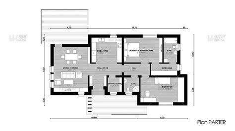 House Plans Two Story by 3 Proiecte De Case Fara Etaj Cu 2 Dormitoare Case Practice