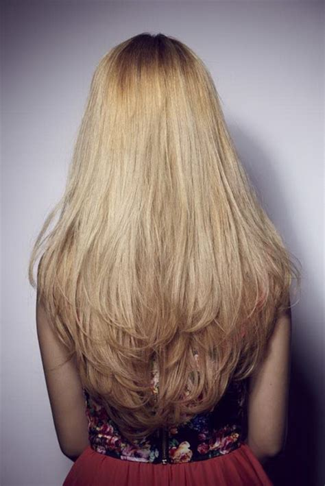 long layers cut towards the back long layered hair back