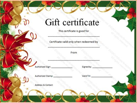 personalized gift certificate template 5 gift card template word bookletemplate org