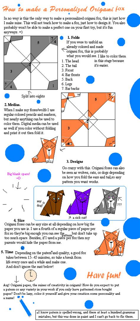 Origami Fox Tutorial - origami fox tutorial by fennecat on deviantart