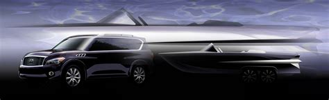 infiniti qx56 powered boat project sails on
