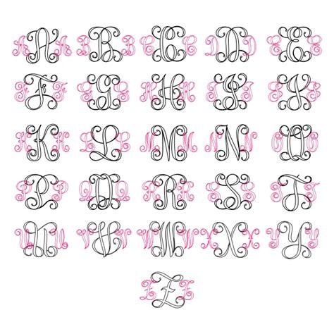 Wedding Font Outline by Interlocking Vine Outline Monogram Cuttable Font