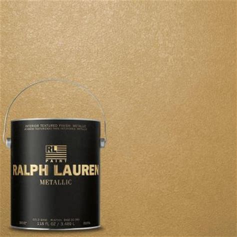 ralph 1 gal golden buttermilk gold metallic specialty finish interior paint me133 at the