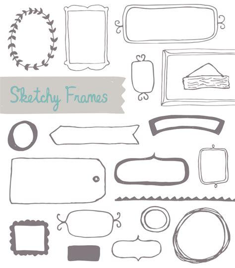 free doodle frame font frame vector