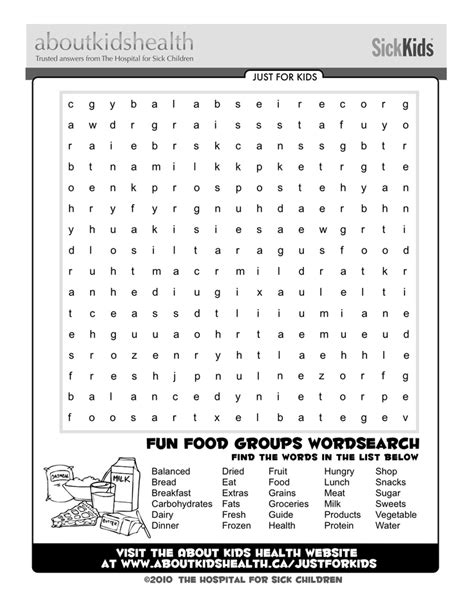 printable word search electricity check out this fun food groups word search just for
