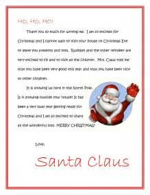Santa Thank You Letter Template Free Dear Santa Letters Dear Santa Letters