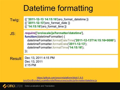 Format Date Twig | data localization and translation