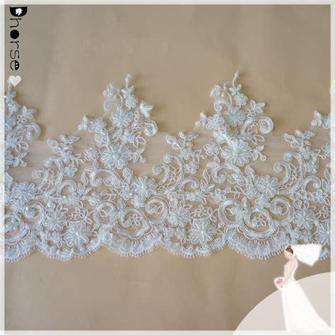 Renda Bordir Per Meter kerudung pernikahan kain renda pengantin manik manik renda