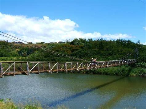 swinging bridge kauai hanapepe bridge