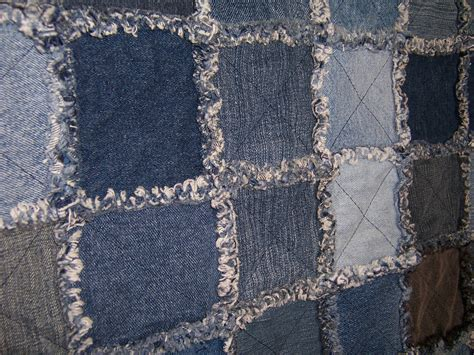 Denim Rag Quilt Pattern by Quilting Rag Quilts Not Used For Cleaning