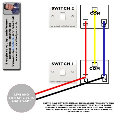 electrical wiring diagram for 2 way switch wiring