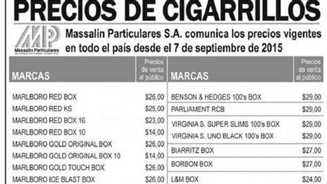 precio cigarros 2016 los cigarrillos vuelven a subir de precio a partir de ma 241 ana