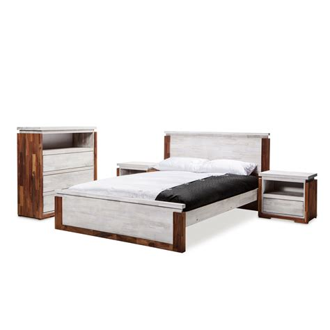 rustic queen bed frame catalina brand new solid rubber wood rustic contemporary