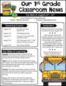 school newsletter templates 25 best ideas about school newsletters on