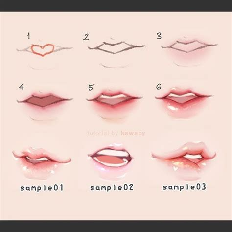 watercolor mouth tutorial 25 best drawing lips ideas on pinterest draw lips