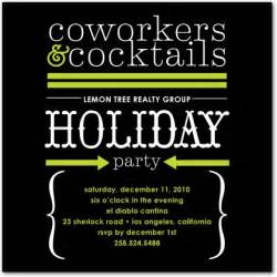 Cocktail Party Themes - corporate cocktails corporate holiday party invitations in black or navy louella press