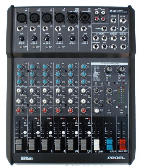 Mixer Audio Proel Proel M8 Karaoke Dj Usb Mixer Vocal Effect 4 Cdg Cd Player Laptop Soundboard Ebay