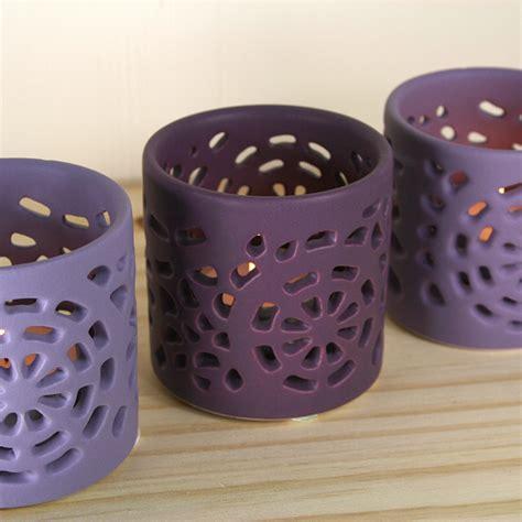 purple tealight holders extras