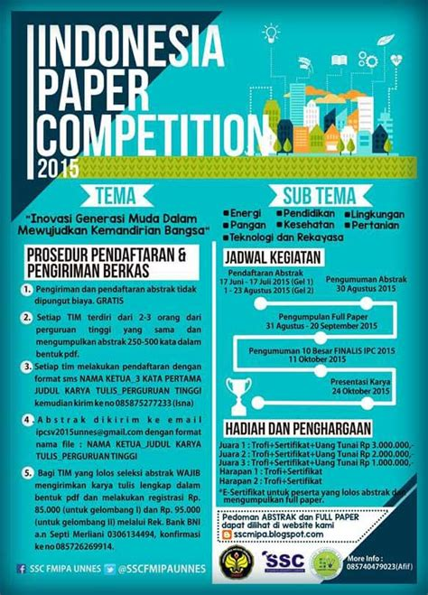 indonesia design competition 2015 indonesia paper competition 2015 lomba karya tulis ilmiah