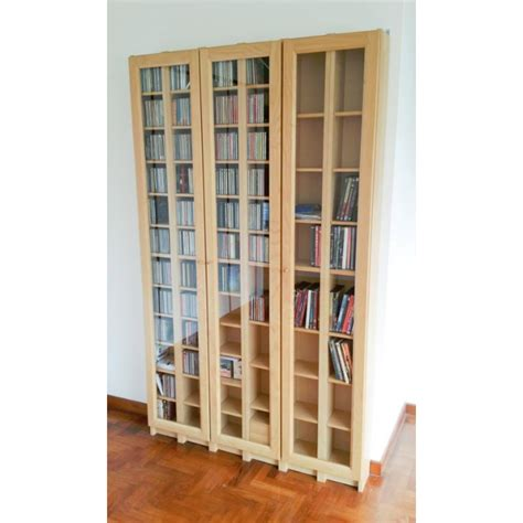 Ikea Gnedby Cd Dvd Book Shelves With Glass Doors Dvd Cabinet With Doors Ikea