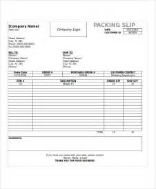 slip template sle shipping slip templates 6 free documents