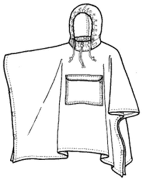 Green pepper Rain Poncho - Adults | Poncho pattern sewing