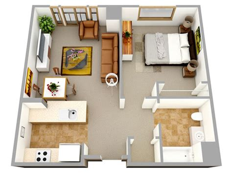 Bathroom Layout Planner Free 3d one bedroom small house floor plans for single man or
