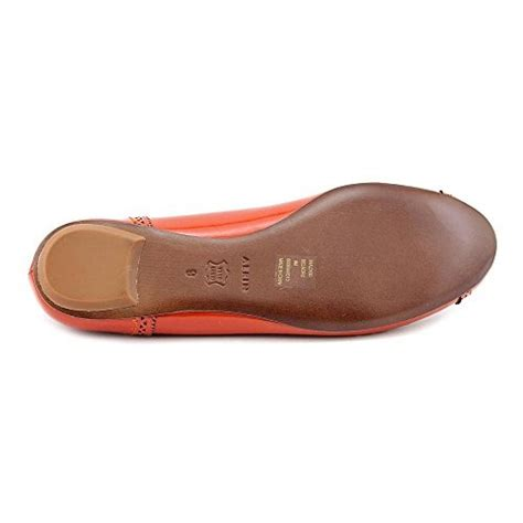 aerin belnord womens size 8 orange leather flats shoes ebay