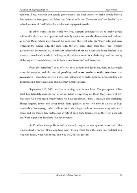 Terrorism Essay Introduction by Essay On Terrorism With Points