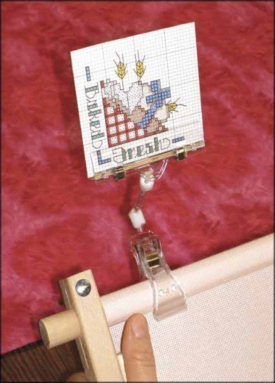 pattern holder cross stitch graph gripper small pattern holder q snaps scroll frame