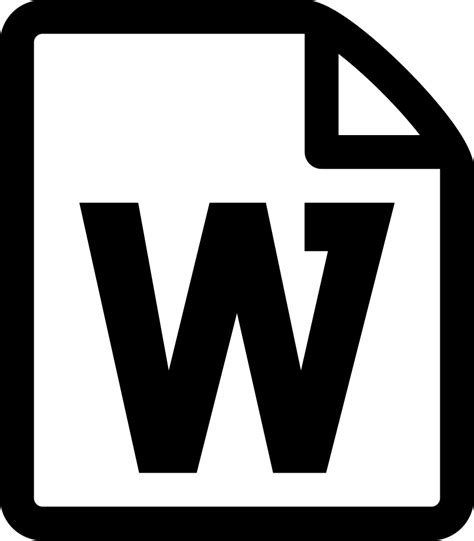 file word file file format word docx svg png icon