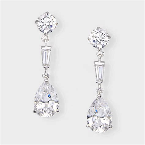 make a statement with these stunning cubic zirconia earrings