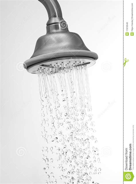 Water Management Shower by Water Flowing In A Shower Stock Photo Image 11919540