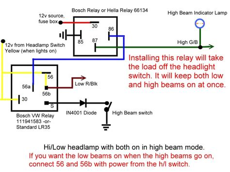 wiring diagram for headl relay circuit and schematics