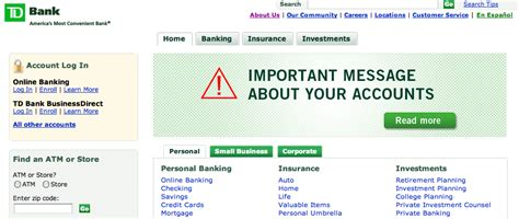 td bank official website td bank releases official statement in response to website