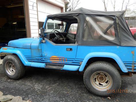 jeep islander 4 door 1989 jeep wrangler 4x4 yj islander 4 2l il6 5spd 2