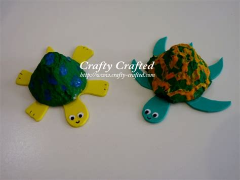 crafts with egg cartons crafty crafted crafts for children 187 turtle