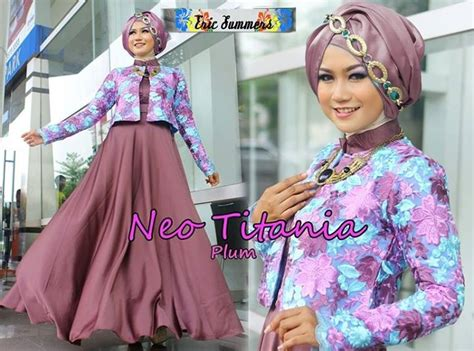 Cuci Gudang Optrimax Plum gaya muslim modern neo titania plum