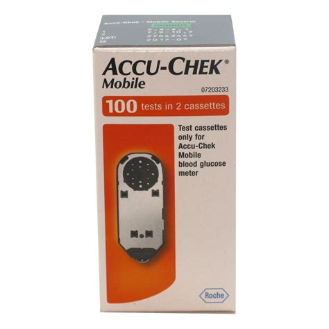 accu chek mobile cassette test strips diabetes