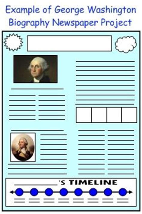newspaper book report project george washington biography book report projects and book