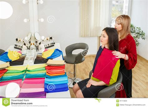 personal color analysis personal color analysis stock photo image of hold