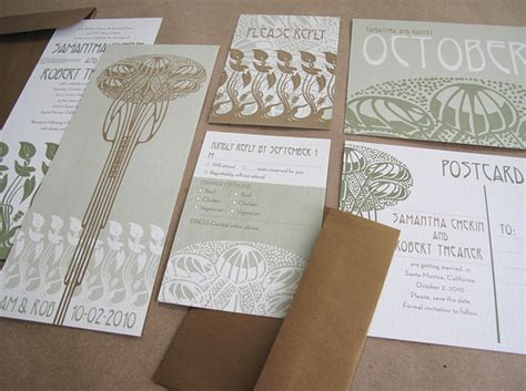 nouveau wedding invitations by invitation crush - Nouveau Wedding Invitation