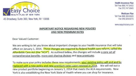 Insurance Gap Letter Patient Protection And Affordable Care Act Obamacare