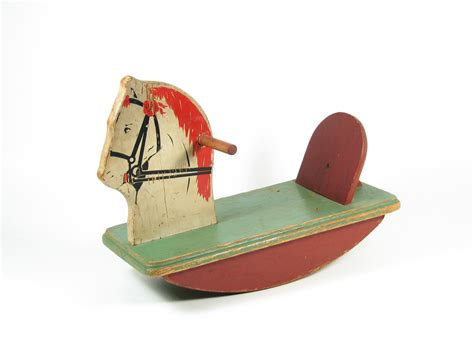 Decorative Bathroom Signs Home by Vintage Wood Rocking Horse Toy Child Rocker Furniture