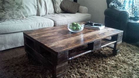 rustic skid coffee table who knew shipping pallets could