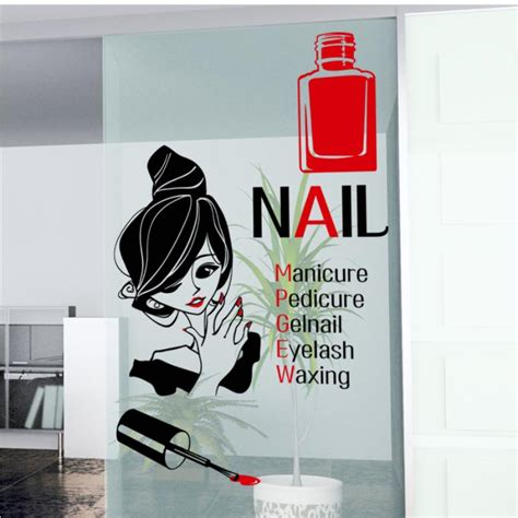 Window Decals For Nail Salon by Popular Nail Salon Logos Buy Cheap Nail Salon Logos Lots
