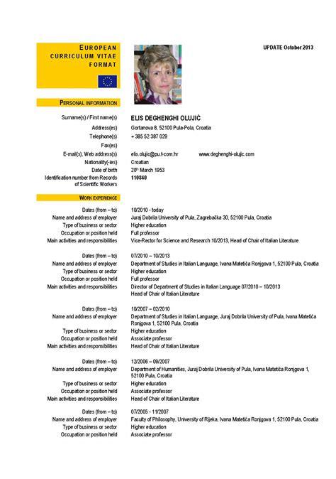 format obrazac za cv elis deghenghi olujić personal eu curriculum vitae cv